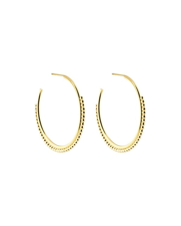 Tiny dots large hoops